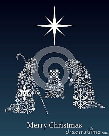 De Kaart van de Groet van de Geboorte van Christus van Kerstmis