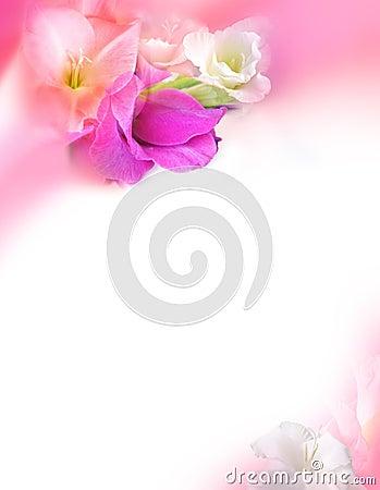 De Kaart van de Groet van de liefde - St de Dag van Valentijnskaarten - Bloemen