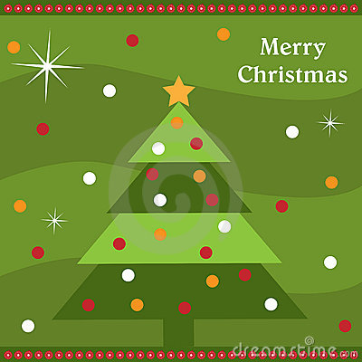 De kaart van de kerstboom
