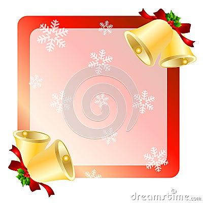 De kaart van de klokkengroeten van Kerstmis