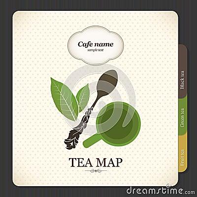 De kaart van de thee