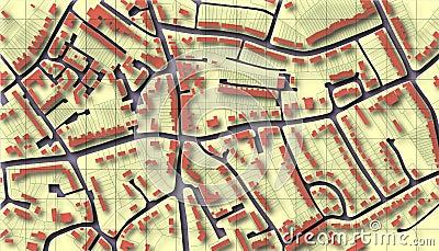 De kaart van de voorstad