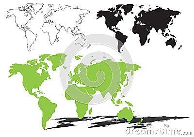 De kaart van de wereld - vector