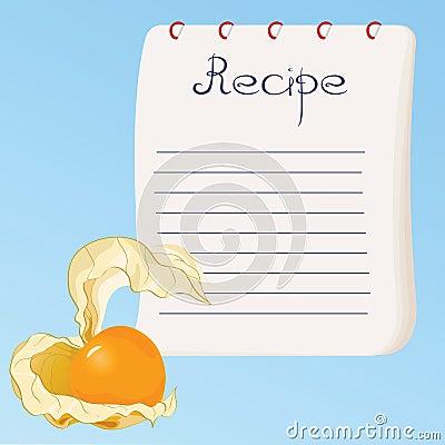 De kaart van het recept