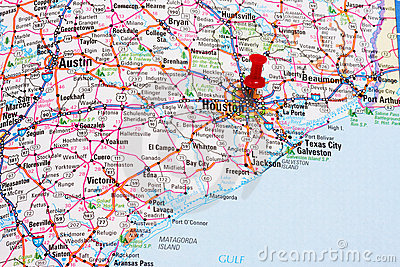 De Kaart van Houston