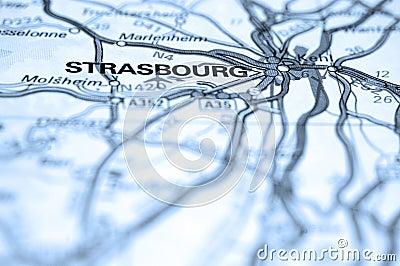 De Kaart van Straatsburg