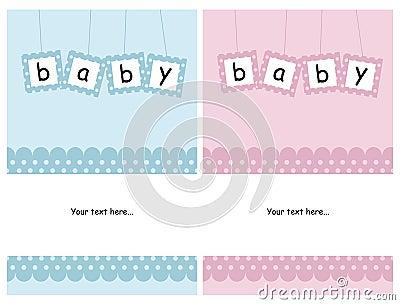 De kaarten van de baby