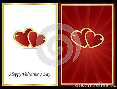 De kaarten van de valentijnskaart