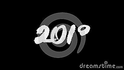 de kalligrafie van 2018 het van letters voorzien met lumasteen stock video