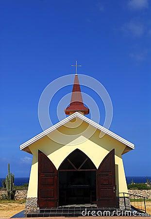 De kapel van het Uitzicht Alta in Aruba