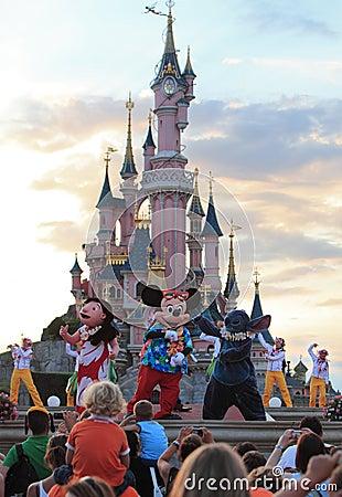 De karakters van Disney Redactionele Afbeelding