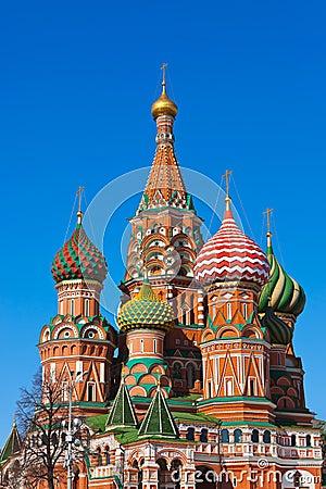 De Kathedraal van het Basilicum van heilige op Rood vierkant, Moskou