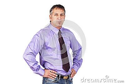 De kerel op het kantoor