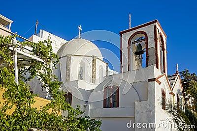 De kerk van Fira in Fira, Santorini