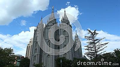 De Kerk van Jesus Christ van de Tempel van laatstgenoemde-Dagheiligen stock video