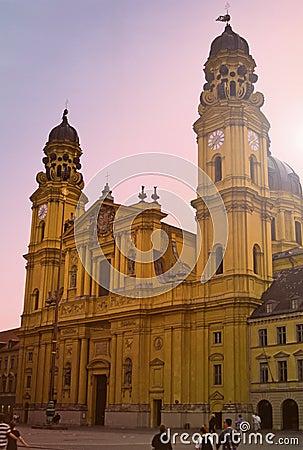De kerk van Theatiener, München, Duitsland