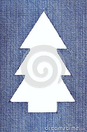 De Kerstboom van het denim