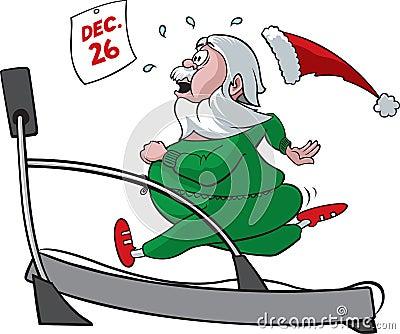 De Kerstman van de tredmolen