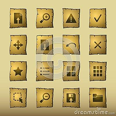 De kijkerspictogrammen van de papyrus