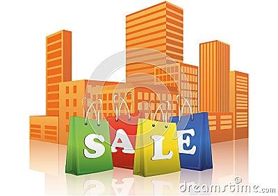 De klantenstad van de verkoop