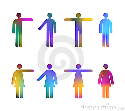 De Kleuren van de Pictogrammen van mensen