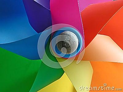 De kleuren van de windmolen