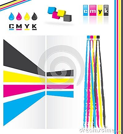 De kleurenmodel van Cmyk