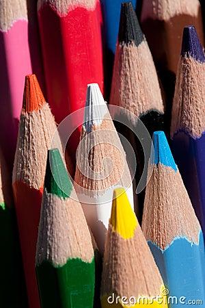 De kleurpotloden van het potlood