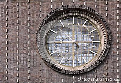 De klok op de kerk