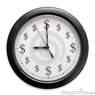De klok van het geld