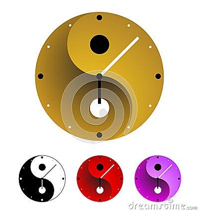 De klok van Yin yang