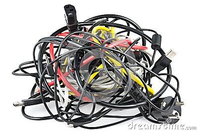 De knoop van kabels