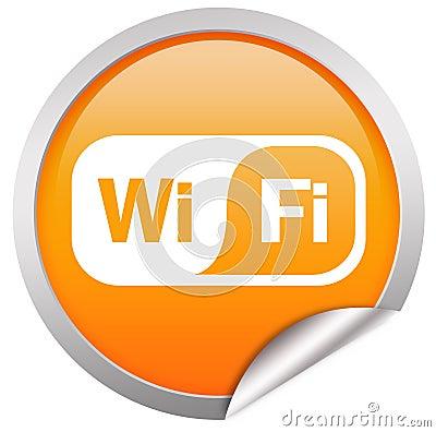 De knoop van Wifi over wit Redactionele Afbeelding