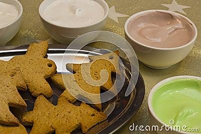 De koekjes van de peperkoek