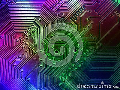 De koele Achtergrond van de Delen van de Computer