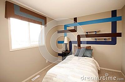 De koele slaapkamer van jongens stock afbeeldingen afbeelding 14166074 - Foto van volwassen slaapkamer ...