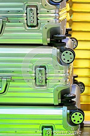 De koffers van het aluminium