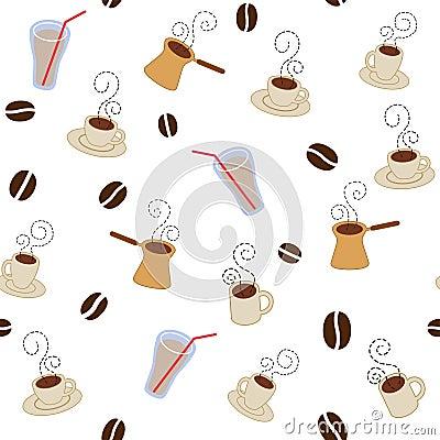 De koffie vormt patroon tot een kom