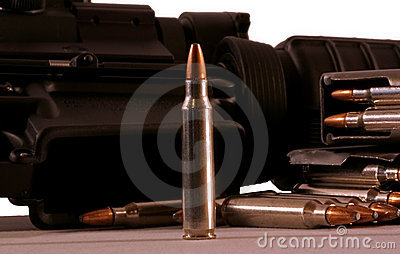 De kogels van het geweer
