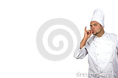 De kok toont