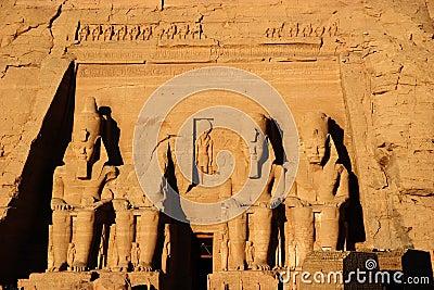 De kolos van Simbel van Abu, Egypte, Afrika