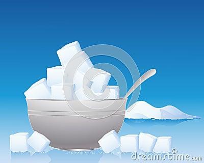 De kom van de suiker
