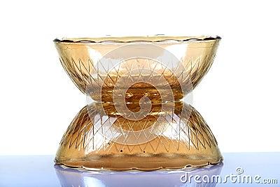 De kommen van het glas