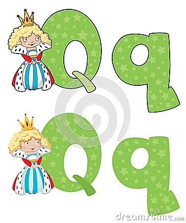 De koningin van de brief Q