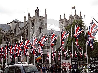 De koninklijke Abdij van Westminster van het Huwelijk Redactionele Stock Afbeelding