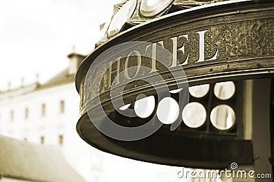 De kopbal van het hotel