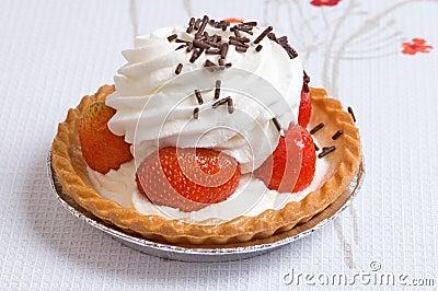De kopcake van de aardbei