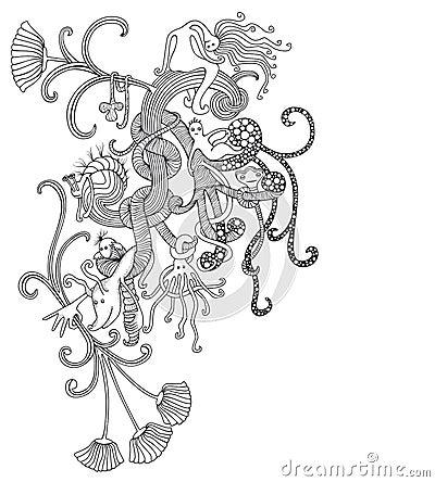 De krabbel van de fantasie