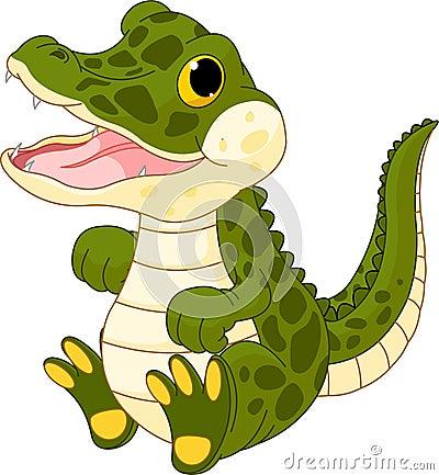 De krokodil van de baby