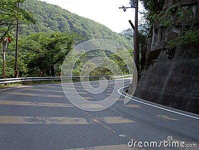 De kromme van de weg